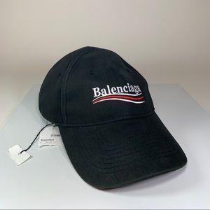 Balenciaga Campaign Logo Black Baseball Hat Cap